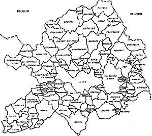 Métropole Européenne de Lille - Map of the Metropolis
