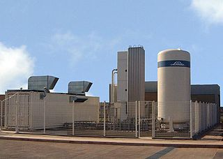 Cryogenic oxygen plant Industrial facility that creates molecular oxygen at relatively high purity