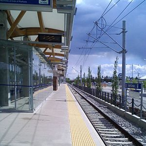 South Campus/Fort Edmonton Park station - Image: LRT Station South Campus squared