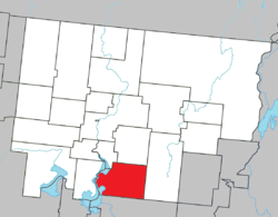 Location within Abitibi RCM.