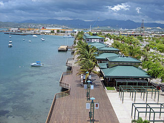 Porta Caribe - La Guancha facing the Caribbean Sea in Ponce