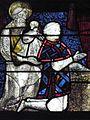 La Guerche-de-Bretagne (35) Basilique Vitrail figurant Jean Ier d'Alençon et St-Jean-Baptiste.jpg
