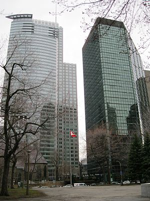 1250 René-Lévesque - View from the North, right beside La Laurentienne Building.