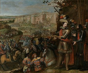 Military history of Spain - The capture of Rheinfelden (1633). Spain was Europe's dominant power for most of the 16th and 17th centuries and had the largest global empire until the beginning of the 19th century