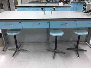 Countertop - Side shot of a lab workspace