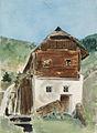 Ladislav Benesch - Pogled na hišo z mlinom.jpg