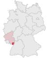 Lage des Landkreises Südliche Weinstraße in Deutschland.png