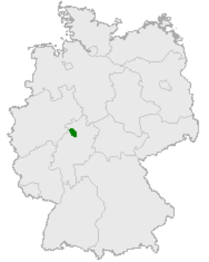 Kellerwald - Kellerwald's location in Germany
