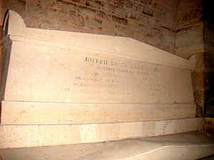 Joseph-Louis Lagrange - Lagrange's tomb in the crypt of the Panthéon
