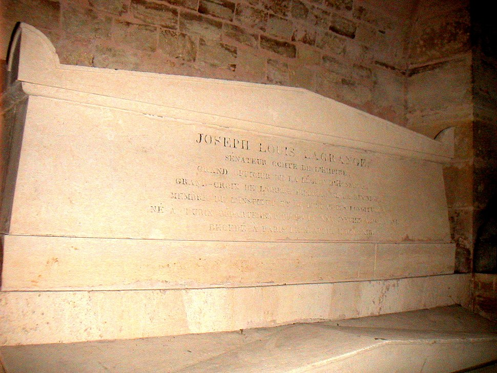 Lagrange%27s tomb at the Pantheon