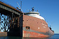 Lake freighter Herbert C. Jackson at the upper harbor ore dock in Marquette, Michigan - Sept. 2009.jpg