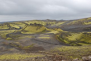 Laki volcanic fissure in the south of Iceland