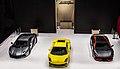 Lamborghini trio at the Paris Motor Show 2012 (8099483504).jpg
