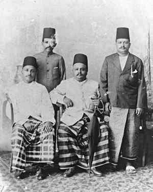 Islam in Sri Lanka - Typical early 20th century Moor gentlemen