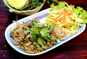 Larb - A Lao style larb ped (with duck) in Chiang Mai