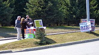 LaRouche movement - LaRouche supporters in Homer, Alaska, May 2012
