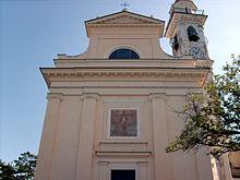 La chiesa di Santa Giulia nella frazione omonima