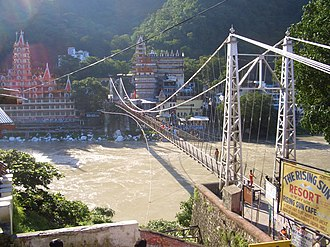 Lakshman Jhula - Lakshman Jhula Bridge view from Tapovan