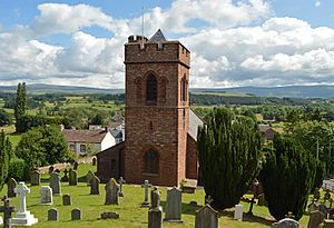 Lazonby - The parish church of  St. Nicholas Lazonby, Cumbria.  The church occupies a prominent position looking over the Eden valley and was rebuilt in 1864-6 to a design by Anthony Salvin