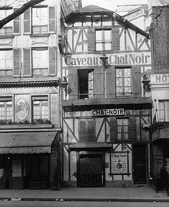 Le Chat Noir - Second location of Le Chat Noir was 12 Rue Victor-Massé Paris (image from 1929)