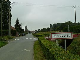 The road into Le Doulieu