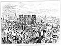 Le Lyon de nos pères, Vingtrinier et Drevet, 1901, page 027, Rougeron-Vignerot-Demoulin et Joannès Drevet, vue d'ensemble de l'ancien cloître de Saint-Jean.jpg
