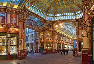 Leadenhall Market - The central interior of Leadenhall Market