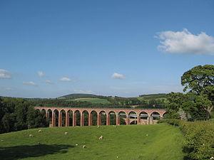Newstead, Scottish Borders - Railway viaduct at Leaderfoot