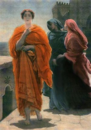 Sophia (Gnosticism) - Helen on the Ramparts of Troy by Frederick Leighton; an incarnation of the Ennoia in the Simonian system.