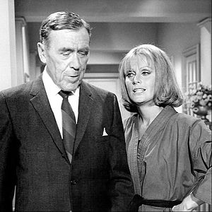 Leo G. Carroll - Carroll as Alexander Waverly on The Man from U.N.C.L.E., with guest star Diana Hyland.