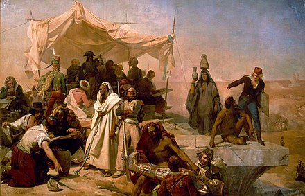 The Egyptian Expedition under the orders of Bonaparte, painting by Leon Cogniet, early 19th century Leon Cogniet - L Expedition D Egypte Sous Les Ordres De Bonaparte.jpg