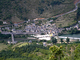 View of Les Vignes and the Tarn River from Causse Méjean
