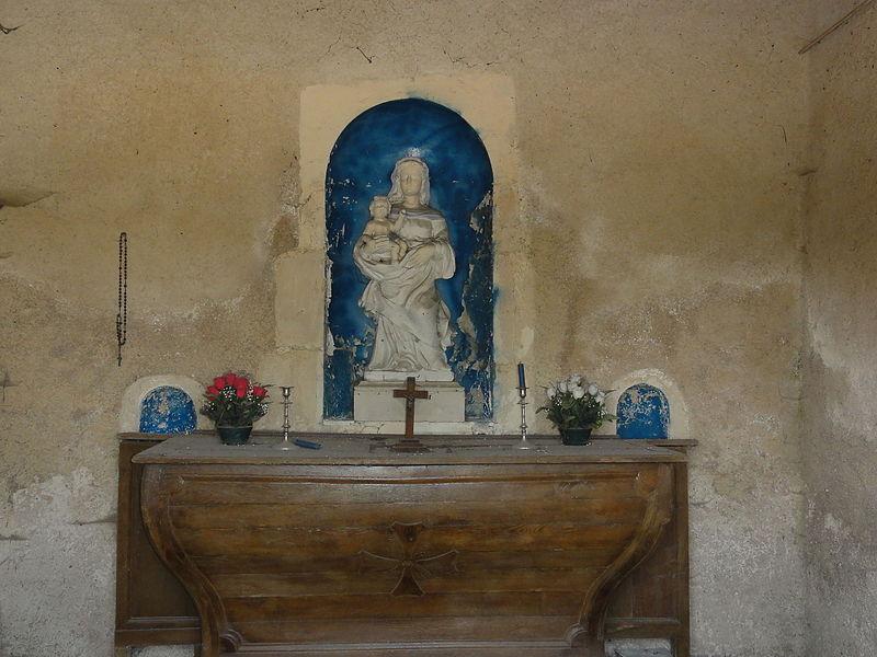 Les Paroches (Meuse) oratoire, intérieur