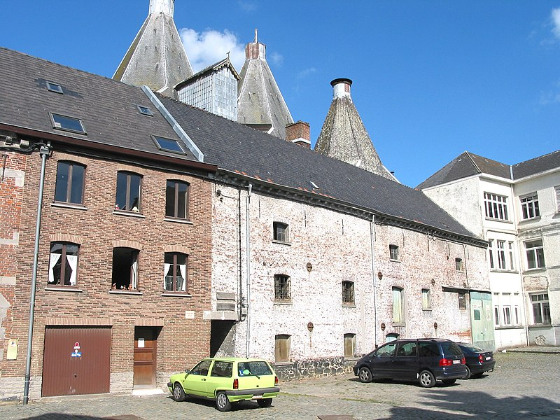 Lessines   (Belgium), ancient malthouse (1880).