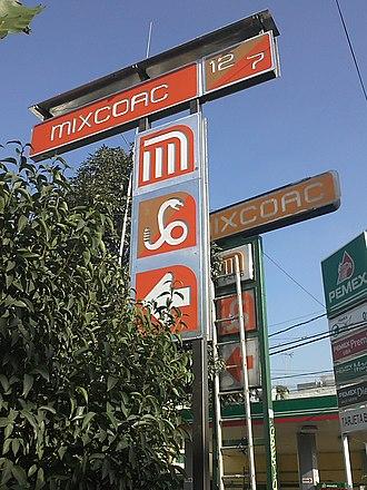 Metro Mixcoac - Image: Letrero Mixcoac Linea 7 y 12