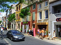 Leucate Village (Aude), main road.jpg