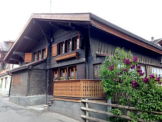 Leysin - The oldest chalet in Leysin, built in 1600.