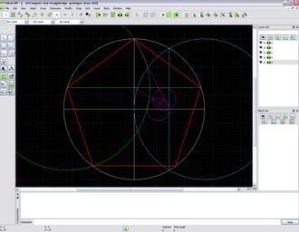 LibreCAD - Image: Libre CAD pentagon