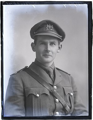 Lionel Greenstreet - Lt Greenstreet, photographed by David Knights-Whittome in 1917