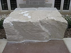 Limestone block at the Indiana Memorial Union.jpg