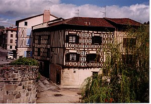 Limousin - Limoges, half-timbered house by the bridge Saint Martial