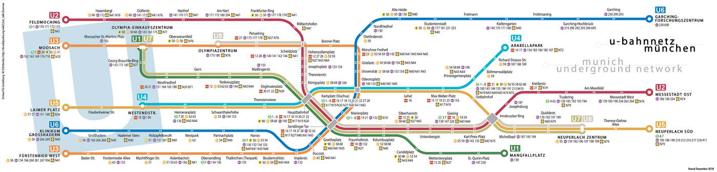 Общественный транспорт Мюнхена.