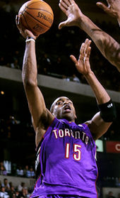 Vince Carter with the Raptors