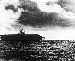 Listing USS Hornet (CV-8) is abandoned in the late afternoon of 26 October 1942.jpg