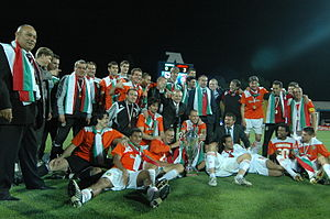 PFC Litex Lovech - Litex players with the Bulgarian Cup in 2009.