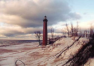Little Sable Point Light - Listed in National Register of Historic Places