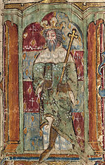 A king, possibly Magnus Maximus, holding a sceptre