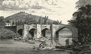 Llangollen bridge and Castell Dinas Bran