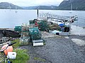 Lobster pots at Plockton new pontoon - geograph.org.uk - 1476183.jpg