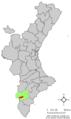 Localització de la Romana respecte el País Valencià.png